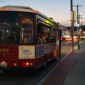 On Trolley Route